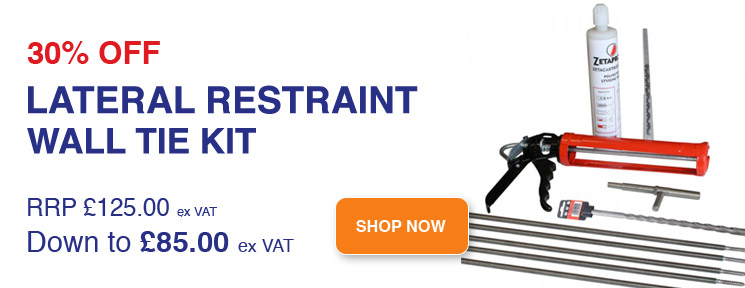 30% off Lateral Restraint Wall Tie Kit