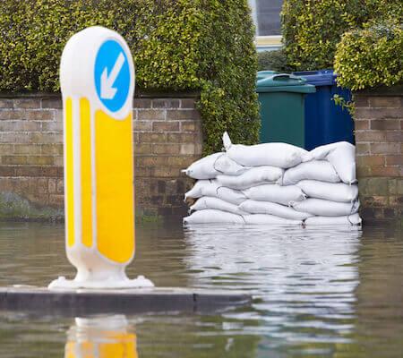 flooding risk with no basement sump pump