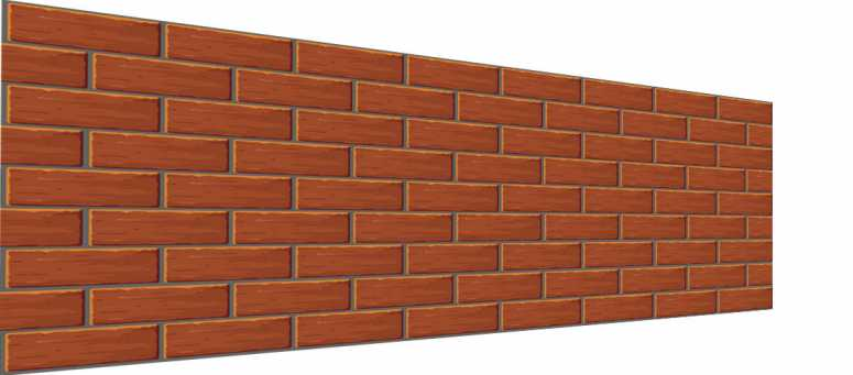 Brick Wall on andgle 3D