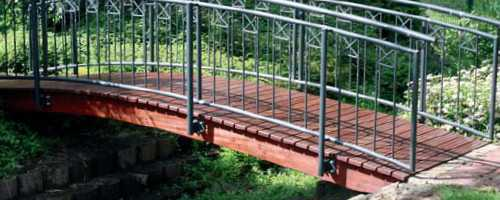 garden timber treatment for bridge