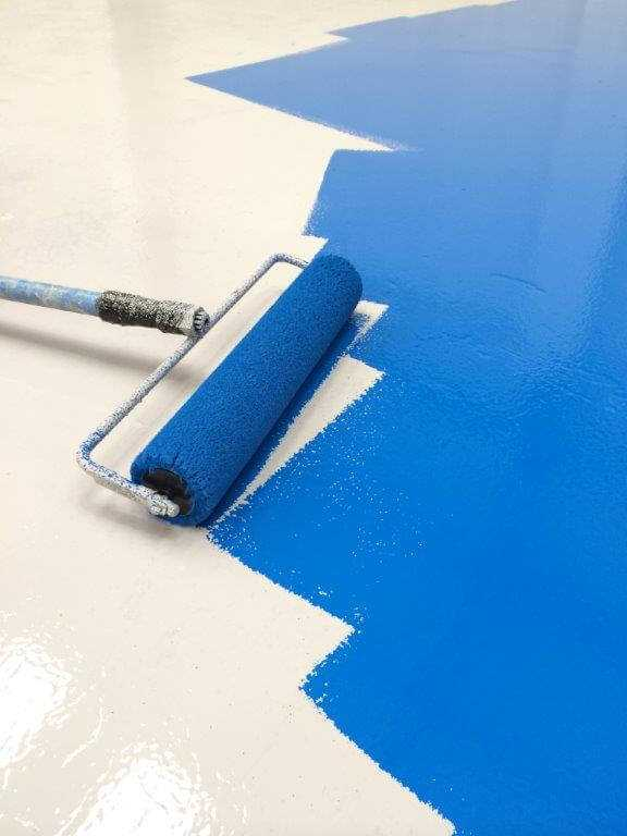 cross rolling garage epoxy floor