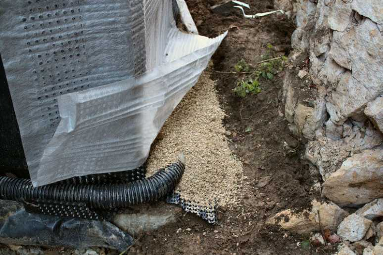 Foundation Wall Drainage System