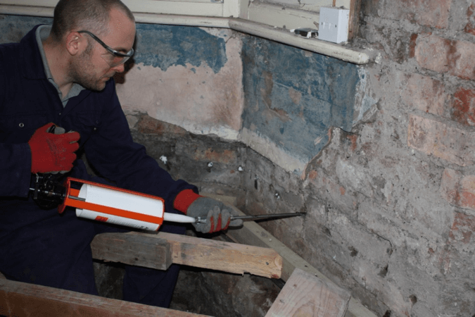 Injection damp proofing cream