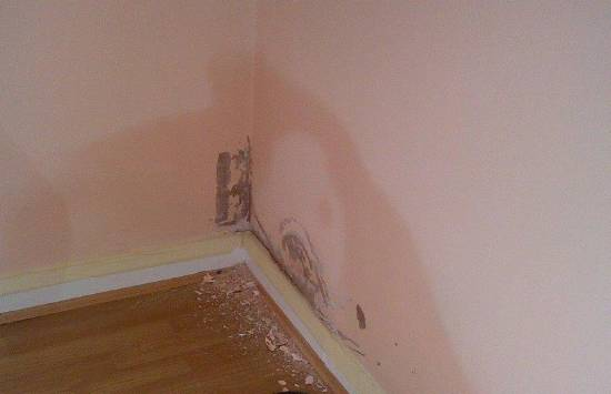 rising damp on internal wall