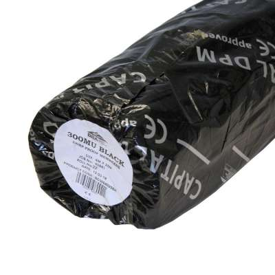 Damp Proof Membrane Black (BBA) 300mu 1200 gauge - 4m x 25m