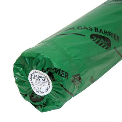 Radbar Radon Gas Barrier Membrane Green 1200 gauge - 4m x 25m