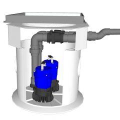 Newton Titan Pro White Sump & Single NP400 Pump