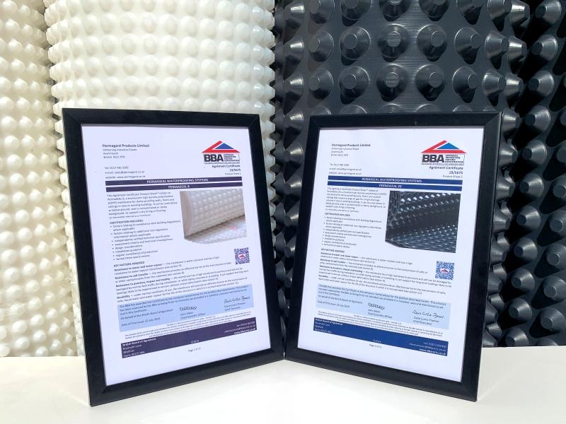 BBA Certificates for PermaSEAL membranes