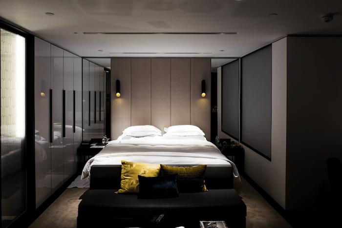Luxury bedroom in converted basement