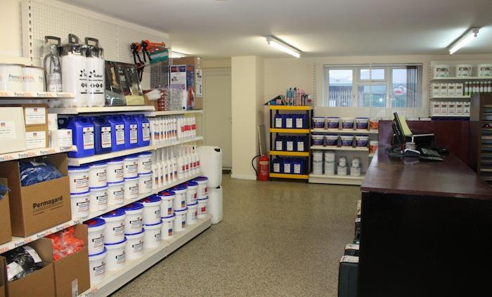 trade counter Bristol damp proofing basement waterproofing products