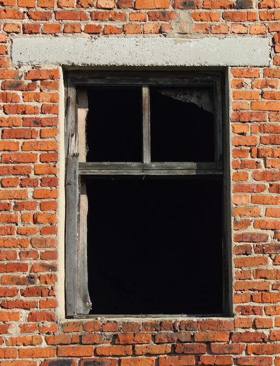 concrete lintel above window