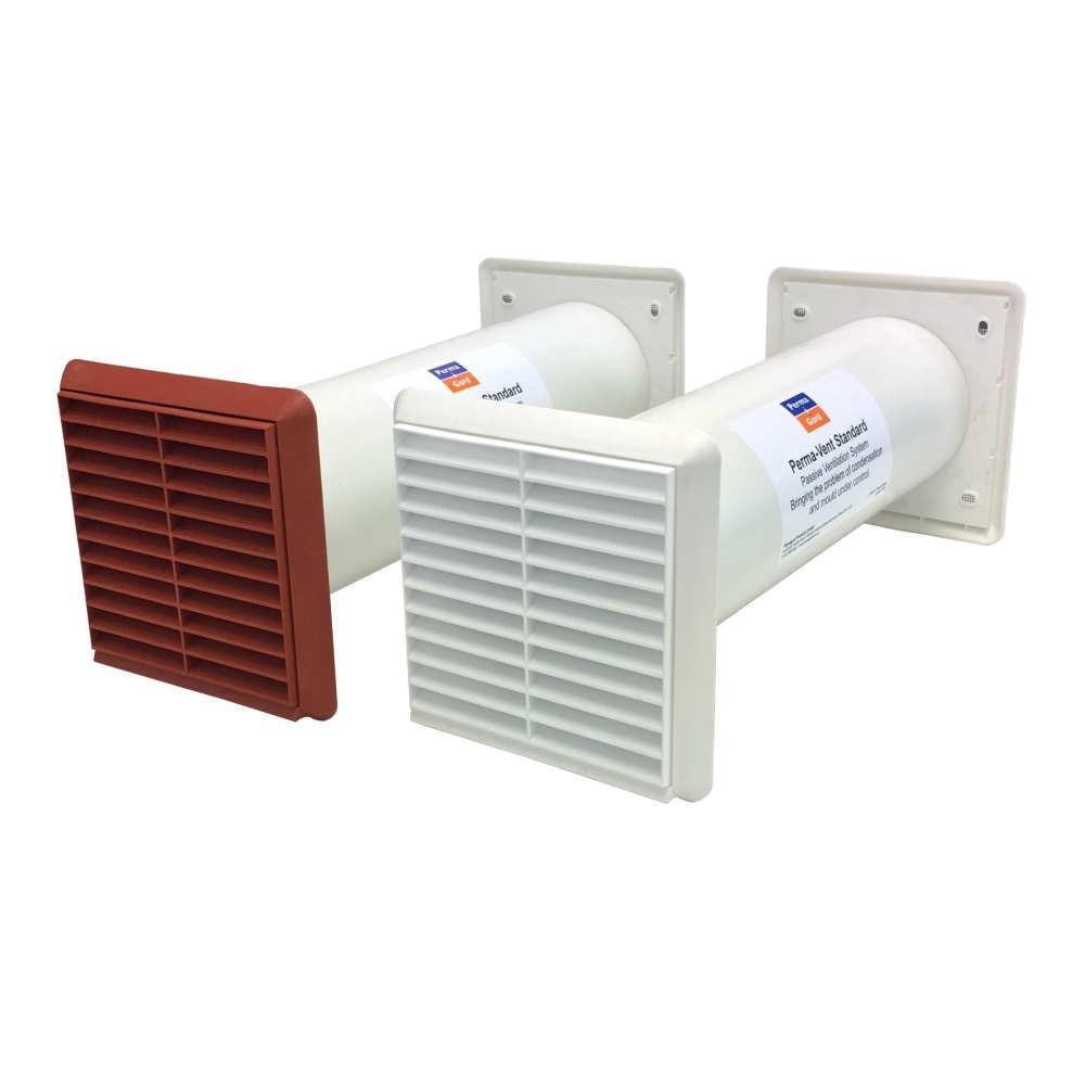 Perma-vent condensation control for bathrooms