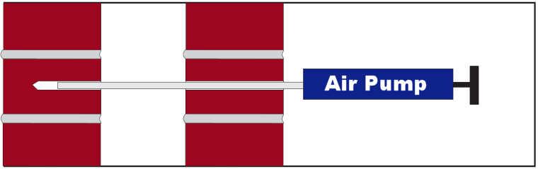 air pump for wall ties