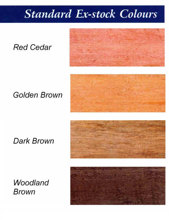 Fence Treatment Colour Range for Standard Permadip