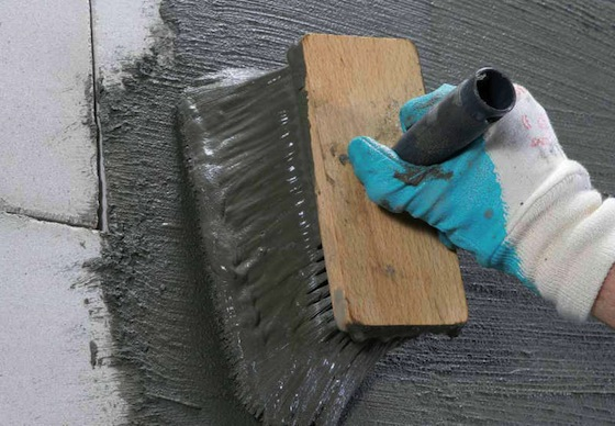 Cementitious tanking for basements
