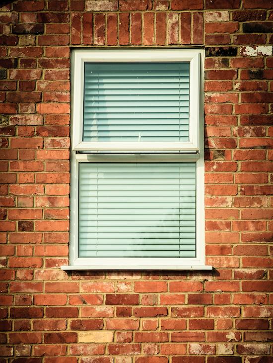brick lintel above window