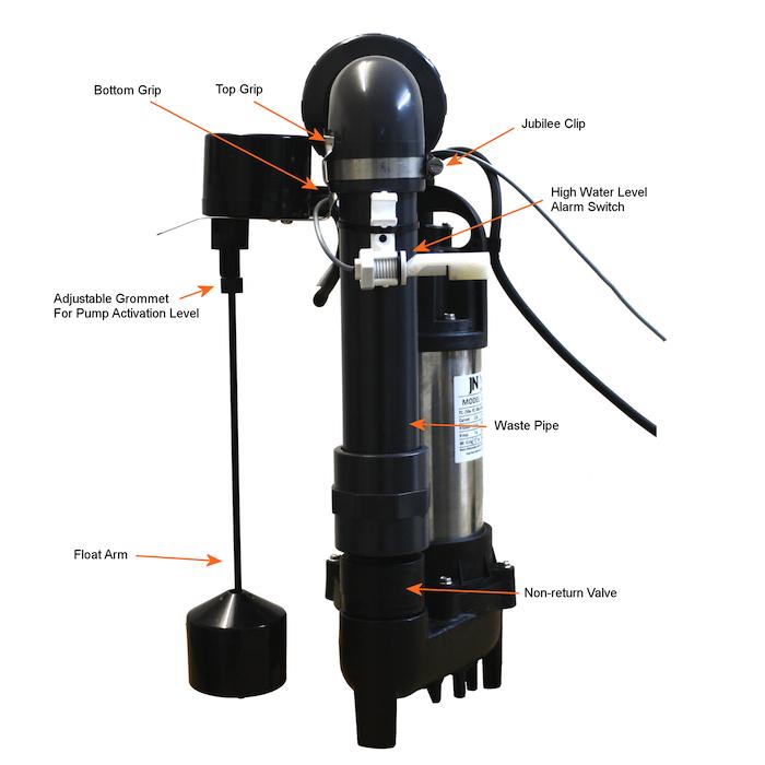 single PermaSEAL sump pump setup diagram